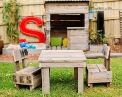 kids tables and chairs made from recycled wood