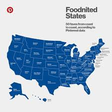 Data Chart The Most Popular Food In Each State According