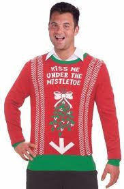 Inappropriate Funny Mens Ugly Christmas Sweater Under the Mistletoe | Sweaters Christmas, sweaters, christmas sweater