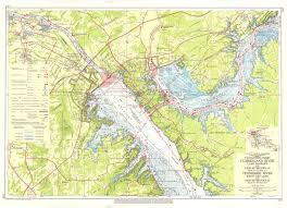 Navigation Chart Cumberland River Lake Barkley And Ohio