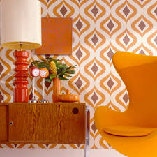 1950s interior design. Above: Big Bold Patterns Were A Staple Of The 50s And With Revival Geometric Prints. 1950s Interior Design
