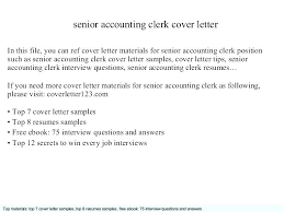Cover Letter Accounting Clerk Cover Letter Accounts Receivable Clerk Senior Accountant Best Ideas