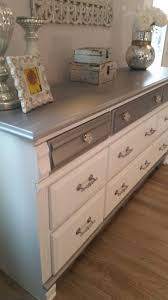 diy metallic furniture. Ideas For Diy Repaint Bedroom Furniture Silver Repurposed Old Oak Dresser Done In White And Metallic O