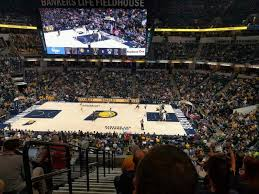 Bankers Life Fieldhouse Section 116 Row 9 Seat 17 Indiana