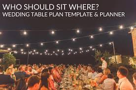 round or rectangular guest tables this spreadsheet will help you place guests on tables wedding table plan template