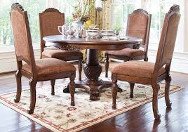 dining room tables with upholstered chairs. north shore round pedestal dining table and 4 upholstered arm chairs | lexington overstock warehouse room tables with i