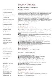 Example Of Customer Service Resume New Customer Service Resume Template