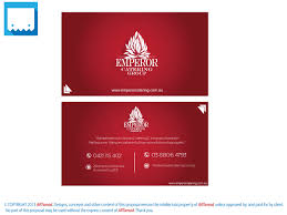 Visiting Card Design For Catering Services Business Business Card Design For A Company By Artamad