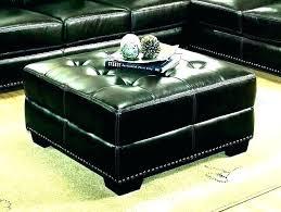 black leather ottoman coffee table black square ottoman leather square ottoman coffee table large square black