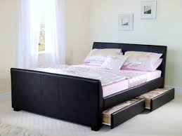 ... Double Storage Bed [ T M L F ]; Black ...