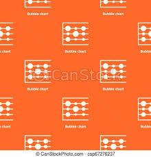 Bubble Chart Pattern Vector Orange