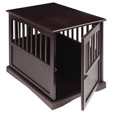 Pet Crate End Table Dog Kennel Furniture Cage Wood Wooden