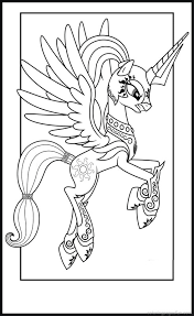 Small Picture Princess Celestia in Armor Colouring pages file Pinterest