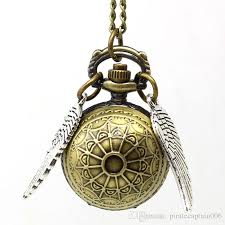 bronze vintage harry potter ball pocket watch snitch wings pocket watch elegant golden snitch quartz fob pocket watch with sweater chain watches