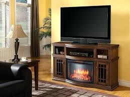 entertainment console with electric fireplace glendon cabinet burnished pecan 25 firebox 269 71 41 muskoka calie