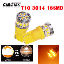 Details About 2x T10 2825 18smd Led Amber Yellow 194 168 Power Wedge Car Dome Map Light Bulbs