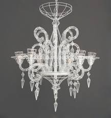2017 new six heads white contemporary hanging wire chandelier throughout wire chandelier view 3