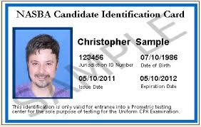 - cand 00 Card Nasbastore Nasbastore card Nasba id 25 00 Candidate Identification