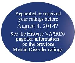 Military Disability Ratings For Mental Disorders