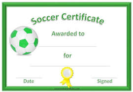 Free Soccer Certificate Templates Free Printable Soccer Certificate Template With A Green