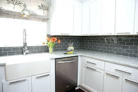 black subway tile backsplash ideas grey white kitchen cabinets with gray good dark glass black subway tile backsplash kitchen