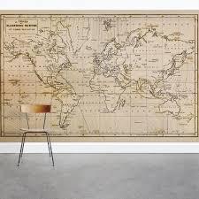 Nautical Chart Wall Mural Old World Map Wall Mural