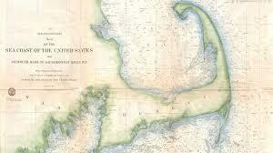 Cape Cod Chart Cape Cod Nautical Map 1857