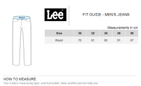 Lee Jeans Size Chart Lee Men S Jeans Size Chart The Best Style Jeans