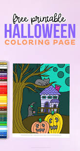 Scary ghost coloring pages, cats, bats coloring pages, pumpkins, coloring pages of witches and scarecrows are just a few of the many printable halloween coloring pages, coloring sheets. Free Halloween Coloring Page Printable Crush