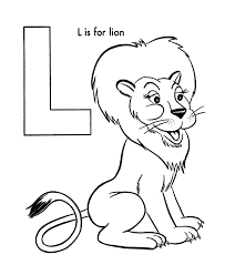Small Picture ABC Coloring Activity Sheet Lion Animal coloring page
