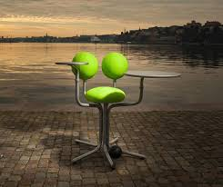 globe office chairs. Original Design Office Chair / Adjustable Upholstered Tablet - GLOBE  TREE By Peter Opsvik Globe Chairs E