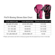 Boxing Glove Size Chart Amazon Com Fitst4 Pro Grade Boxing Gloves Pu Leather