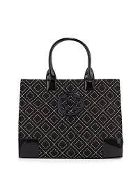 Tory Burch Ella Quilted Nylon Tote Bag, Black/Gold &  Adamdwight.com