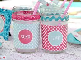 Decorating Mason Jars For Drinking 100 Valentines Day Craft Ideas Made With Mason Jars 39