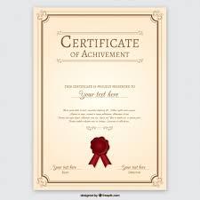 Achievement Certificate Certificate Of Achievement Vector Free Download