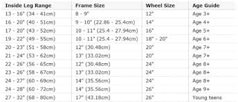 Bike Wheel Size Chart Age How To Choose Right Size Of Your Bicycle Hello Bicycle Sg
