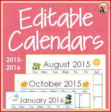 Nylas Crafty Teaching Editable Calendars For Teachers