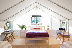 Tent furniture Glamping The Highend Tent Accommodations Of Mendocino Grove Glamping Resort In Northern California Courtesy Of Mendocino Grove Shelter Co Glamping The 11 Best Resorts In The Us Curbed