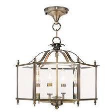 livingston 4 light antique brass pendant