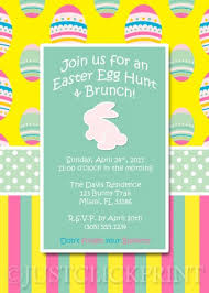 Easter Egg Hunt Brunch Lunch Invitation Printable Uprint