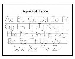 Alphabet Tracing Worksheet Upper Lowercase Letters Alphabet ...