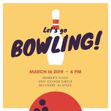 bowling invitation templates orange bowling ball and pins bowling invitation templates by canva
