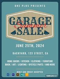 Free For Sale Flyer Template Free Printable Garage Sale Flyer Template Word Psd