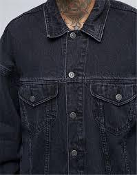 Design Your Own Denim 2020 No Brand Design Your Own Drop Shoulder Streetwear 100 Cotton Jean Acid Washed Men Black Custom Oversized Denim Jacket Buy Oversized Denim