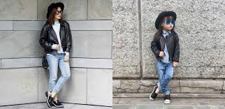 ootd denim and leather laureen uy