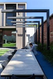Modern Arbor Design Garden Modern Steel Pergola Built In Seating As Gardenbed