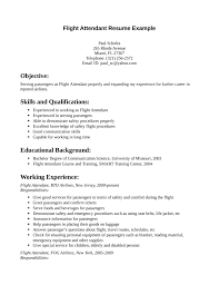 Simple Flight Attendant Resume