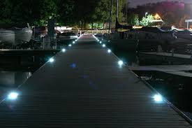 deck floor lighting. Gorgeous Solar Deck Lights Installed At Night View All Lake Lite Marine Floor Lighting D