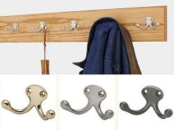 Double Coat Rack Solid Oak Wall Mounted Coat Racks Optional Top Shelf Made In The USA 75