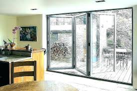 stained glass folding doors interior with bi